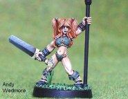 Gaels (Barbarzyńcy): Female Warrior With Standard (ostatni 1 egz.) [IKC12328U]