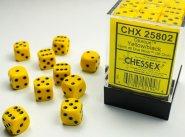 Zestaw (brick) 36 kostek k6 12 mm MAT - Yellow [CHX25802]