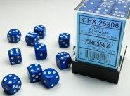 Zestaw (brick) 36 kostek k6 12 mm MAT - Blue [CHX25806]