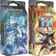 POKEMON: S&M3 Burning Shadows Theme Deck KOMPLET Rock Steady (Lycanroc) i Luminous Frost (Alolan Ninetales) [POK80236×2]