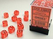 Zestaw (brick) 36 kostek k6 12 mm KRYSZTAŁ - pomarańczowy (orange/white) [CHX23803]