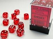 Zestaw (brick) 36 kostek k6 12 mm KRYSZTAŁ - czerwony (red/white) [CHX23804]
