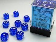 Zestaw (brick) 36 kostek k6 12 mm KRYSZTAŁ - niebieski (blue/white) [CHX23806]