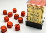Zestaw (brick) 36 kostek k6 12 mm SPECKLED - Fire [CHX25903]