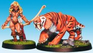 Gaels (Barbarzyńcy): Amanthas the Huntress with Sabretooth (2) (ostatni 1 egz.) [IKC12309U]