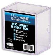 Pudełko plastikowe akrylowe na 200 kart [5E-81149]
