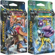 Pokemon TCG: Sun & Moon 8 Lost Thunder Theme Deck KOMPLET - Blazing Volcano (Entei) + Storm Caller (Raikou) [POK80461]