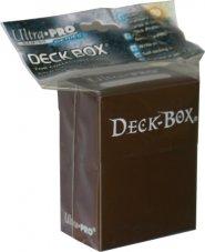 Plastikowe pudełko na karty (Deck Box) BRĄZOWE [5E-82556]