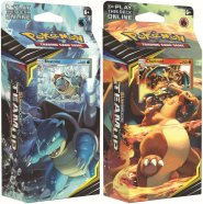 Pokemon TCG: S&M9 Team Up Theme Deck KOMPLET - Torrential Cannon (Blastoise) + Relentless Flame (Charizard) [POK80492×]