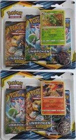 Pokemon TCG: S&M10 Unbroken Bonds 3PK blister - KOMPLET Sceptile + Typhlosion [POK80549×2]
