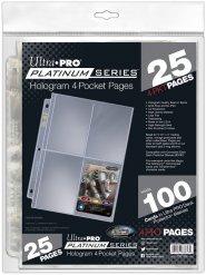 Opakowanie 25 egz. stron 3/4 Platinum do klasera (4 kieszenie) [5E-83658]