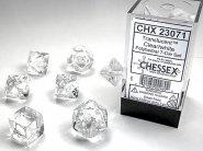 Kostki w kompletach (brick): KRYSZTAŁ - przezroczysty (Clear/white) (7) [CHX23071]