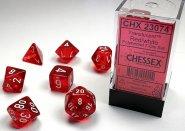 Kostki w kompletach (brick): KRYSZTAŁ - czerwony (Red/white) (7) [CHX23074]