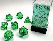 Kostki w kompletach (brick): KRYSZTAŁ - zielony (Green/white) (7) [CHX23075]