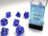 Kostki w kompletach (brick): KRYSZTAŁ - niebieski (Blue/white) (7) [CHX23076]