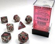 Kostki w kompletach (brick): KRYSZTAŁ - dymny (Smoke/red) (7) [CHX23088]