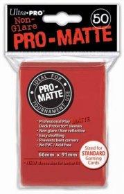 Koszulki Ultra Pro Non-Glare Pro-Matte CZERWONE (50) [5E-82650]