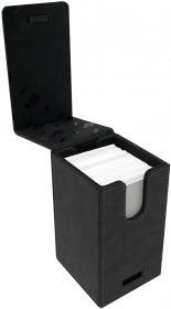 Suede Collection Alcove Tower JET Deck Box [5E-85762]