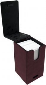 Suede Collection Alcove Tower RUBY Deck Box [5E-85764]