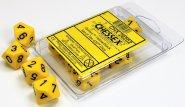 Zestaw (blister) 10 kostek k10 16 mm MAT - Yellow/black [CHX26202]