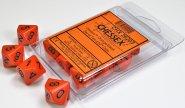 Zestaw (blister) 10 kostek k10 16 mm MAT - Orange/black [CHX26203]