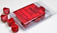 Zestaw (blister) 10 kostek k10 16 mm MAT - Red/black [CHX26214]