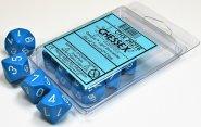Zestaw (blister) 10 kostek k10 16 mm MAT - Light Blue/white [CHX26216]