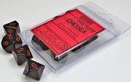 Zestaw (blister) 10 kostek k10 16 mm MAT - Black/red [CHX26218]