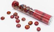 Znaczniki szklane w tubie Iridized Crystal Red (40) [CHX01174]