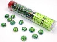 Znaczniki szklane w tubie Iridized Crystal Green (40) [CHX01175]