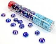 Znaczniki szklane w tubie Iridized Crystal Dark Blue (40) [CHX01176]