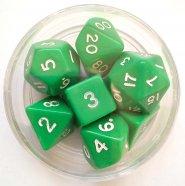 Kostki w kompletach (okrągłe pudełko) (JEDNOKOLOROWE): MAT (7) [DGPOPUD]