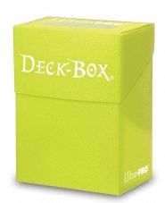 Plastikowe pudełko na karty (Deck Box) JASNOŻÓŁTE [5E-84227]